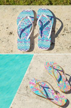Lilly Pulitzer Printed Pool Side Flip Flops- only $32