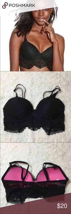 VS Pink Small Lace Bralette Push up padding Victoria's Secret Intimates & Sleepwear Bras