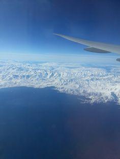 Flying over Van Turkey. Incredibly beautiful.