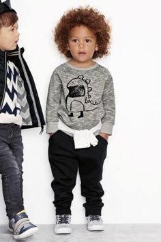 Buy Sketchy Monster Crew Top from the Next UK online shop Little Tykes, Little Boys, Modern Kids, Next Uk, Uk Online, Latest Fashion For Women, Baby Love, Boy Fashion, Graphic Sweatshirt