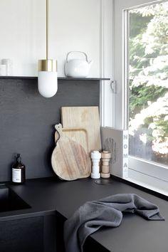 all black kitchen - April and mayApril and may