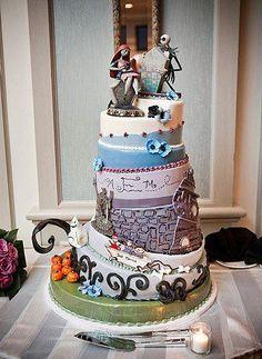 Corpse bride's cake