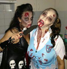 Horror costume makeup party school girl vs vampire #lucipekicrocks