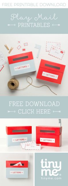 FREE Pretend Play Mailbox Printables