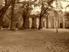 Sheldon Church ruins, burned by General Sherman and his troops in Low Country, Country Roads, Wonderful Places, Beautiful Places, Shermans March, Murrells Inlet Sc, Places Ive Been, Places To Go, General Sherman