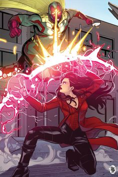 The Vision vs Scarlet Witch by ChickenzPunkYou can find Scarlet witch and more on our website.The Vision vs Scarlet Witch by ChickenzPunk Marvel Comics, Marvel Fan, Marvel Heroes, Marvel Avengers, Marvel Girls, Captain Marvel, Magie Du Chaos, Wanda Marvel, Scarlet Witch Avengers