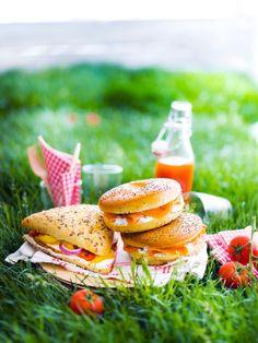 #bagel #saumon fumé, fromage frais, ciboulette #Picard