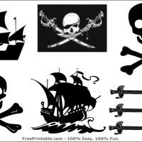Free Printable Pirate Stickers. How adorable are these?! Give a like.