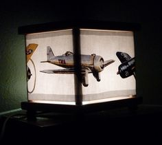 Vintage Plane Night Light Lamp Airplane By Babymamma1 23 00 Lights Decor