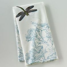 Blossoms & Blooms Dragonfly Kitchen Towel