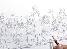 One Piece Chapter, Character Design Animation, Anime Sketch, White Art, Drawing Tips, Cute Drawings, Art Sketches, Cool Art, Digital Art