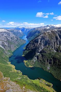 Visit the land of your dreams -because it's good for your body and soul. #Norway Make it happen here: http://bit.ly/Fjord-Norway-regionPhoto: UNESCO listed Nærøyfjord by Girish Chouhan/visitBergen com & Svein Ulvund/FjordNorway