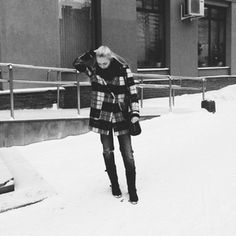#black #white #girl #fashion #city