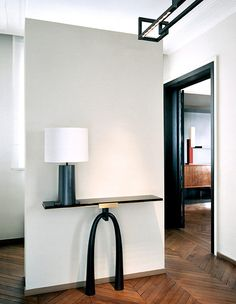 Entryway in a Parisian apartment designed by Frédéric Sicard. Photo by Hervé Goluza.