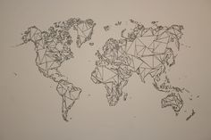 world on canvas - wall art