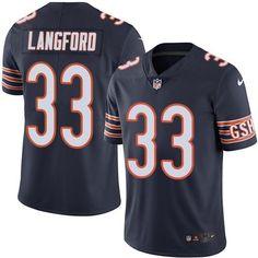 9e00da480 Nike Bears  33 Jeremy Langford Navy Blue Team Color Men s Stitched NFL  Vapor Untouchable Limited