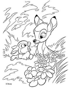 Discover this amazing coloring page of Bambi Disney Movie Here