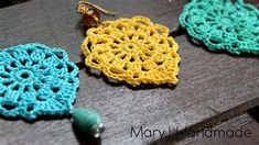 Crochet jewelry 545709679834608520 - Nice and easy crochet earrings, Aqua, My Crafts and DIY Projects Source by Poncho Crochet, Thread Crochet, Love Crochet, Diy Crochet, Crochet Crafts, Crochet Projects, Diy Projects, Tunisian Crochet, Craft Tutorials