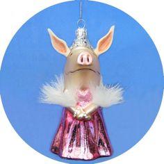 Olivia the Pig Pink Dress Ornament Personalized Christmas Ornaments, Xmas Ornaments, Pigs, Pink Dress, Snowman, Holiday Decor, Cute, Piglets, Pork