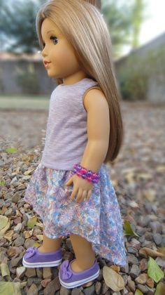 High Low Skirt for American Girl Dolls | Sew Adollable