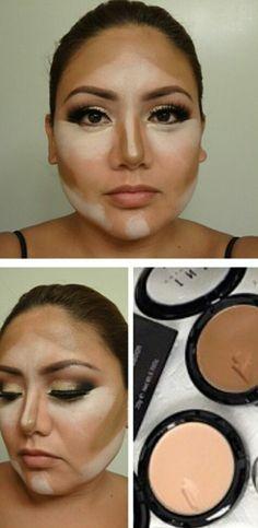 Contouring a round face