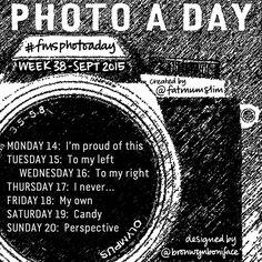 Photo A Day Challenge 2015 // Week 38 - Fat Mum Slim