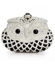 jeweled owl clutch