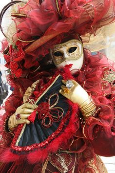 """Carnival Venice, Italy  """"Masquerade, paper faces on parade, masquerade. Hide your face and the world will never find you."""" I would love to visit Italy during Carnival."""