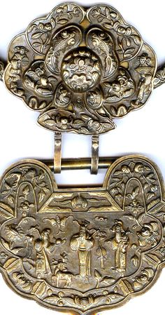 gilt silver lock neck China (Singkiang archives sold )