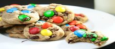 Bite-Size M&M Cookies - Most recently, we made these delicious and colorful Bite-size M&M cookies to enjoy during our Friends watching. The cookies were so delicious that I found myself going back for one each episode%u2026I had to cut myself off at 3! Too delicious!