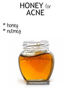 HONEY ACNE REMEDY  Mix 1 tsp of nutmeg with 2 tbsp of honey and use it as a face mask or just dab a small amount of honey as a spot treatment and lave it on overnight. The antibacterial properties of both honey and nutmeg are beneficial for acne-prone skin. DIY honey face wash for acne free skin >> HONEY FOR DRY SKIN  To moisturize the skin instantly, use honey to wash your face. Get your face wet, take a dollop of honey, and smear it on. Rinse off with warm water. Also, mix 1 tbsp of honey…