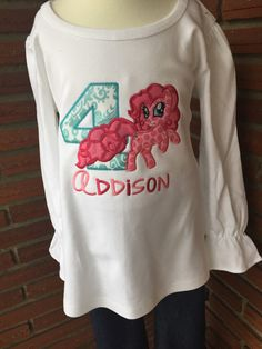 Pinkie Pie Birthday Shirt My Little Pony by SewMacy on Etsy