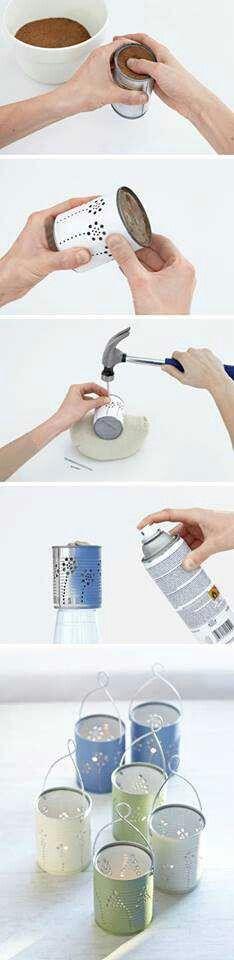 Tin can lanterans