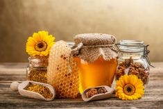 Photo about Still life with honey, honeycomb, pollen and propolis. Image of golden, nutrition, flower - 29066955 Herbal Remedies, Health Remedies, Natural Remedies, Flu Remedies, Natural Honey, Raw Honey, Honey Bees, Natural Hair, Honey Benefits