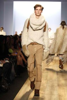 Michael Kors Fall The sweater is absolutely great. Michael Kors Fall, Mens Fall, Fall Collections, Mens Fashion, Style Fashion, Style Me, Ready To Wear, Khaki Pants, Women Wear