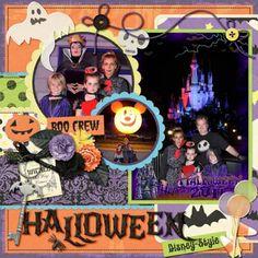 Halloween Party. Halloween Scrapbook Layouts