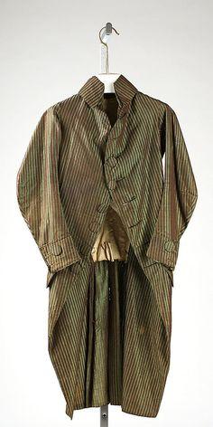 Coat 1780, American or European, Made of silk