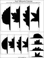 Leaf silhouette patterns in three sizes