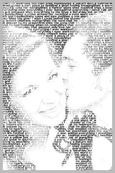 Turn words into a photo...I used this for our first anniversary gift