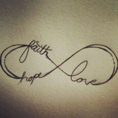 Resultado de imagen para love hope faith tattoo significado