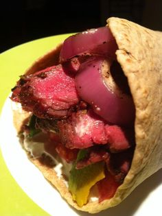 Spicy Grilled #Bison Fajitas With Red Onion and Lemon Zest Sour Cream #recipe