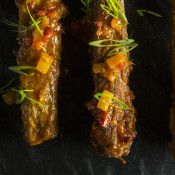 Sweet-and-Sour Pork Ribs - Pork ribs taste divine with sweet and sour sauce.