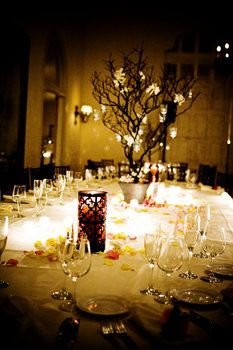 Wedding, Reception, White, Black, Gold, Table, Candles, Centerpieces