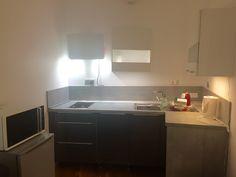Kitchen of my AirBnb appartment in Paris 14ème