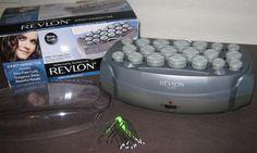 Professional Revlon Ionic Curl Hairsetter RV261 20 Roller Hair Hot Rollers w Box #Revlon