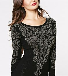 Damask Jacquard Bodycon Dress
