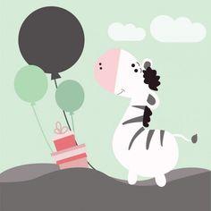 #zebra #balões #azul #menino #bebê