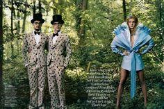 Cool Alice + Modern Tweedle dum + dee costume alice in wonderland by annie-leibovitz