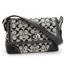 Need a new Coach bag? How about for only $89 | Coach Signature Hampton Flap | buyaHandbag