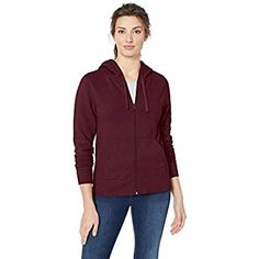 a459d7ce9d152 Amazon Essentials Women s French Terry Fleece Full-Zip Hoodie